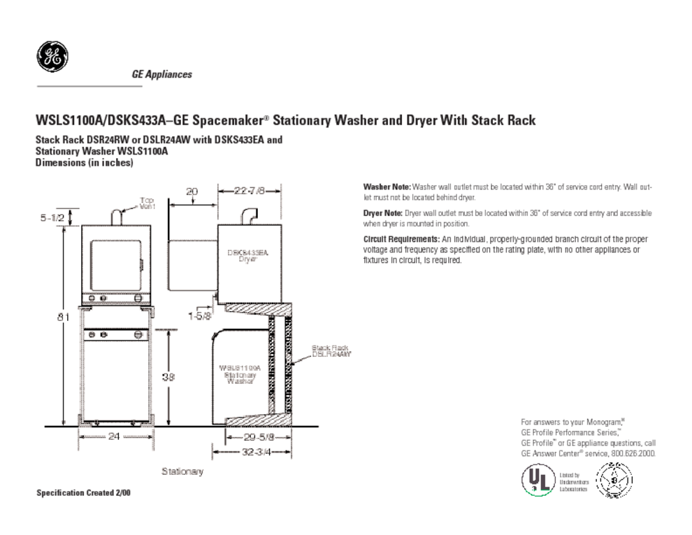 ge spacemaker washer dryer manual