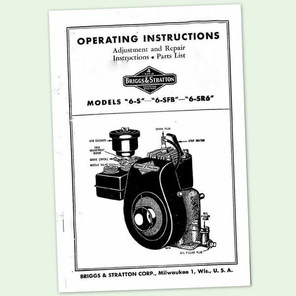 service manual for briggs and stratton engines