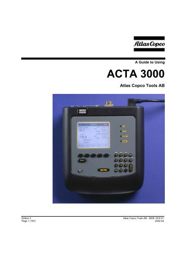 atlas copco power focus 4000 user manual
