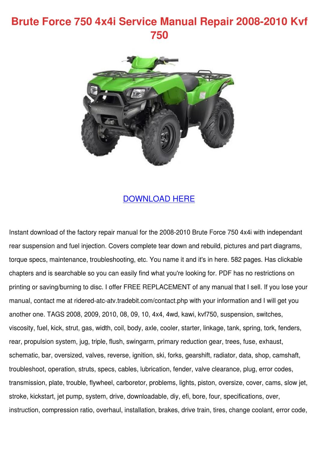brute force 750 service manual free download