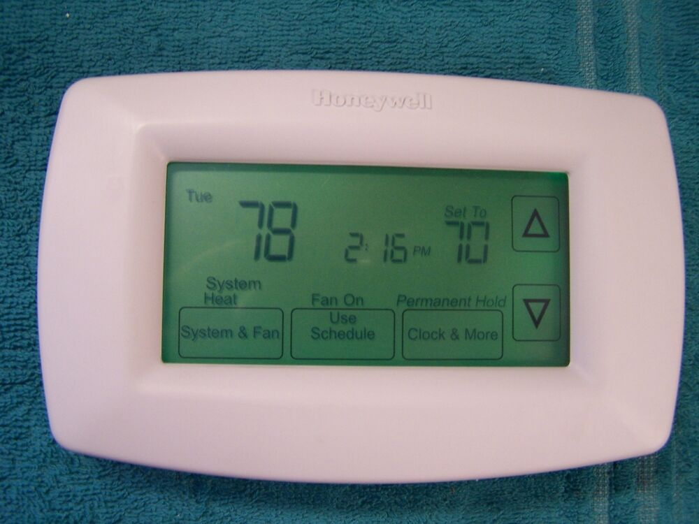 honeywell rth7600d touchscreen 7 day programmable thermostat manual